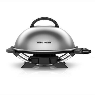 George Foreman Electric Grill w/ Stand Indoor Outdoor Cookin