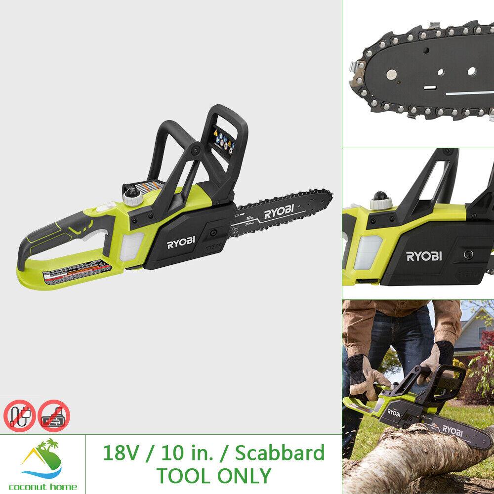 RYOBI 18V Hand Chainsaw 10 in Bar Chain Cordless Pruning Lim
