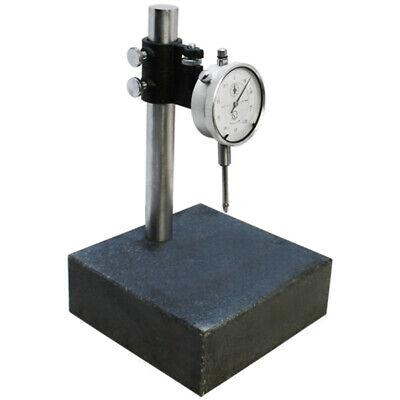 "TECLOCK Granite Comparator Stand 8/"" Post 6/""x6/""x2/"" NICE w//Dial Indicator"