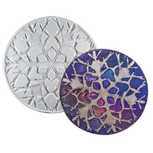 Snowflake Round Texture Mold - Creative Paradise Glass Fusing Mold