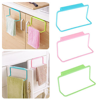 Towel Rack Hanging Holder Organizer Bathroom Kitchen Cabinet Cupboard Hanger B-S