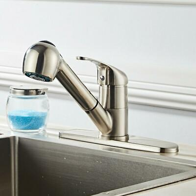 HOT Home Kitchen Pull Drawbench Faucet Pull Out Sprayer Single Hole US