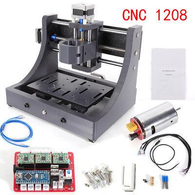 Mini 3 Axis 1208 Cnc Router Engraver Machine Desktop 3d Wood Pcb Milling Us
