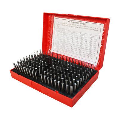 190 Pc M1 .061-.250 Steel Plug Pin Gage Set Plus Plus Pin Gauges Metal Gage