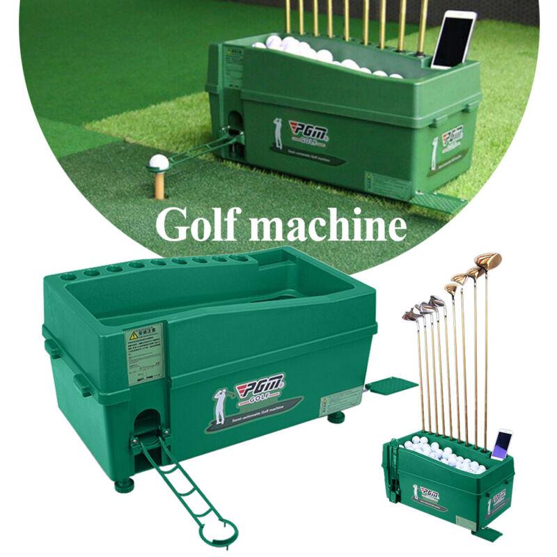 32*32*62cm Powerless Golf Ball Dispenser Automatic Tee Up Service Machine Green