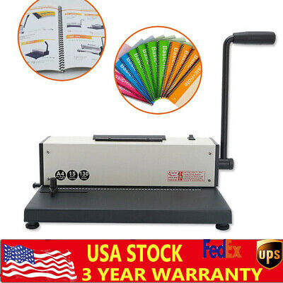 Plastic Spiral Coil Insert Binding Machine Binder Calendar Notebook Maker 110v