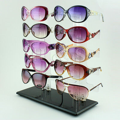 10 Pair Acrylic Sunglasses Glasses Retail Shop Display Unit Stand Holder Case B