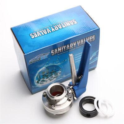 1.5 38mm Sanitary Triclamp Butterfly Valve 2pcs Ptfe Gasket 1pcs Epdm