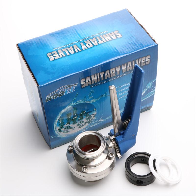 "1.5"" / 38mm Sanitary TriClamp Butterfly Valve + 2PCS PTFE Gasket + 1PCS EPDM"