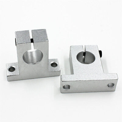 2pcs Sk16 16mm Linear Rail Shaft Guide Support Cnc