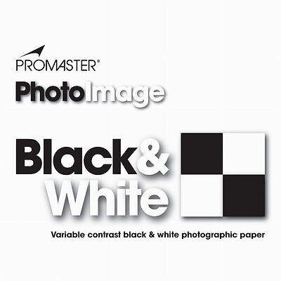 Promaster PhotoImage Black & White Photographic Paper 25sheets 8x10 GLOSSY #3038