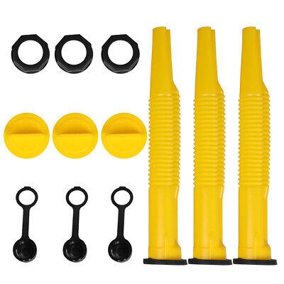 3 Scepter Spout Kit Gas Can Parts 4 Pcs Spout Screw Cap Stopper Rear Vent