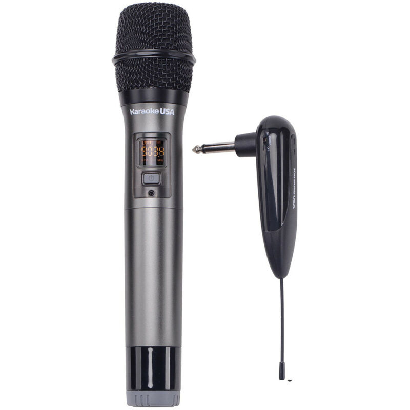 Karaoke USA 900 MHz Rechargeable  UHF  Wireless  Karaoke Microphone