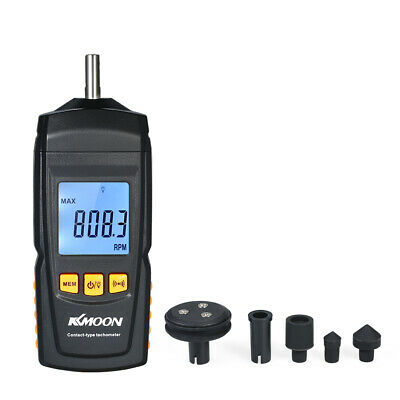 Handheld Contact Lcd Digital Tachometer Motor Speed Tester Rpm Tach Meter