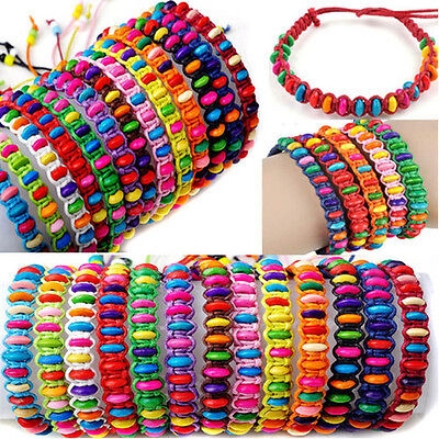 10pcs Wholesale Lot Beads Braid Handmade Fashion Friendship Adjustable Bracelets