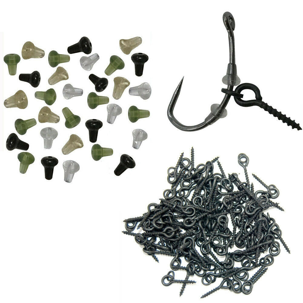 100Pcs Carp Fishing Boilies Baits Holder Baits Screw Fishing Terminal Tackle