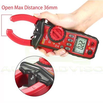 Digital Lcd Disaplay Clamp Acdc Multimeter Amp Volt Meter Resistance Tester New