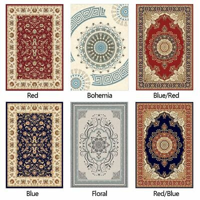 Traditional Oriental Area Rug Carpet Crystal Velvet Medallion Persien Mat Runner Traditional Patio Rug