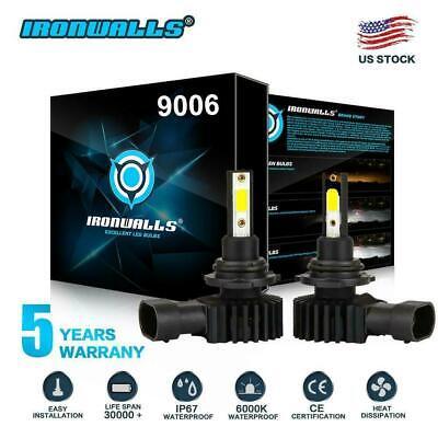 9006 HB4 LED Headlight Fog Light Bulbs Kit High Low Beam 6000K White High Power