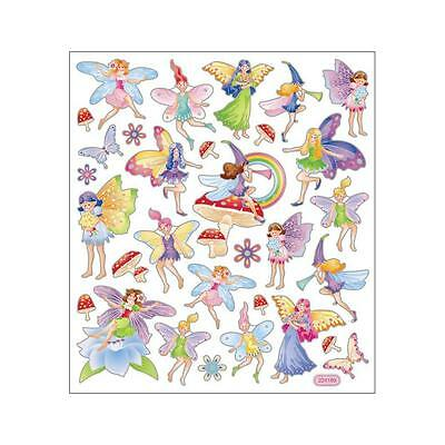 Scrapbooking Crafts Stickers Fairy Fantasy Fairies Wings Horn Rainbow Flowers