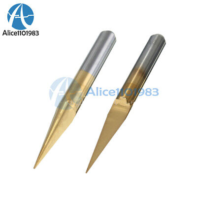 2pcs 3.175mm Carbide Pcb Engraving Bits Cnc Router Tool 10 Degrees 0.1mm V-shap