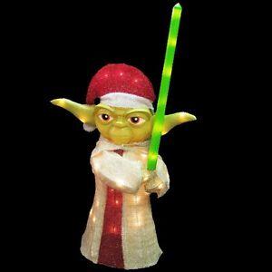 Star-Wars-Yoda-Lighted-Lawn-Decor-Kurt-S-Adler-36-Figurine-Christmas