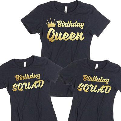Birthday TSHIRT Birthday Queen Squad Lady Tee Shirt Birthday Girl Party Birthday Girls Ladies Shirt