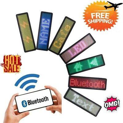 Bluetooth Mini Led Display Digital Led Badge Diy Programmable Scrolling Message