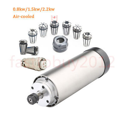 0.8kw1.5kw2.2kw Cnc Router Spindle Motor Air Cooled Er11er16er20 400hz 220v