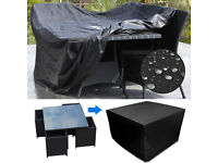 Heavy Duty Waterproof Rattan Cube Cover Garden Furniture Protection Black