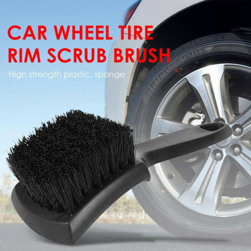 Vehicle Car Motorcycle Wheel Tire Rim Scrub Brush Cleaner Tire Cleaning Tool New