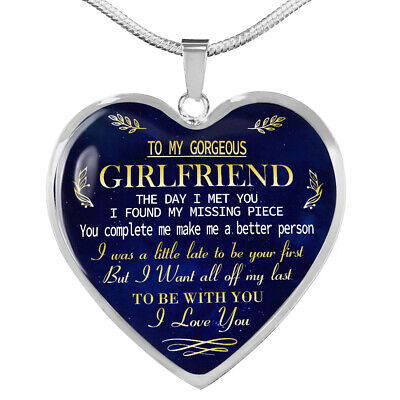 To My GIRLFRIEND Necklace Best Gift For Girlfriend From Boyfriend (Best Gift From Girlfriend)