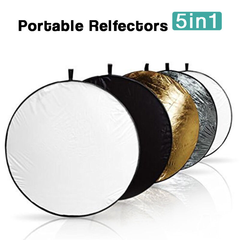 "22""(55.88cm) 5 in 1 Portable Photography Studio Multi Disc Collapsible Reflector"