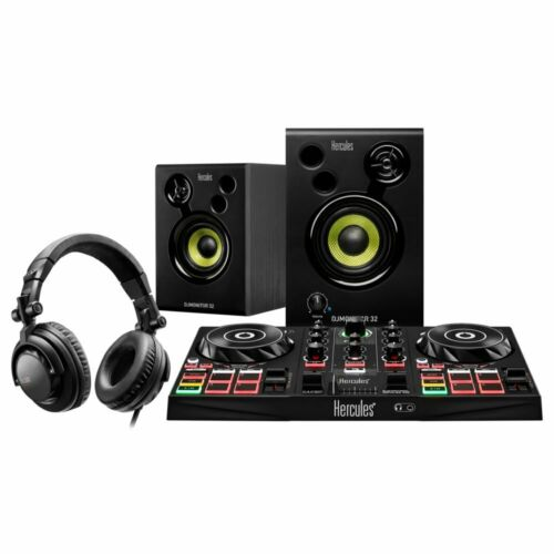 Hercules DJ Learning Kit w/ Controller, Speakers, Headphones, and Software