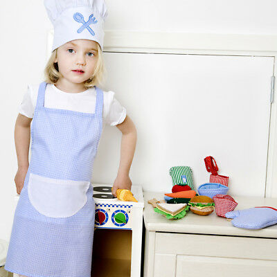 Oskar and Ellen Cooking Chef Outfit, Blue - Imaginative Play for - Chef Costumes For Toddlers