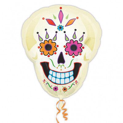 Halloween Day of Dead Supershape Foil Balloon Decoration Skeleton Sugar Skull