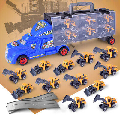 Die-cast Construction Truck Vehicle Car Toys Set Play Vehicles Carrier Truck US