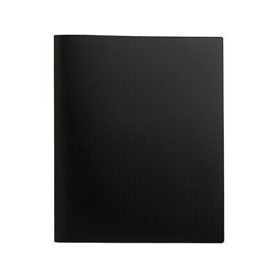 Staples Poly 2-pocket Presentation Folder Black 21625-cc20643 654245