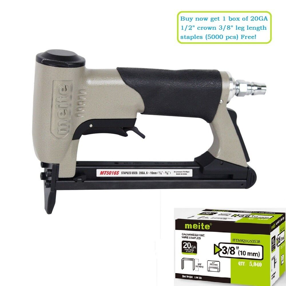 meite MT5016S 20GA 1/2-Inch Crown Pneumatic Upholstery Stapl