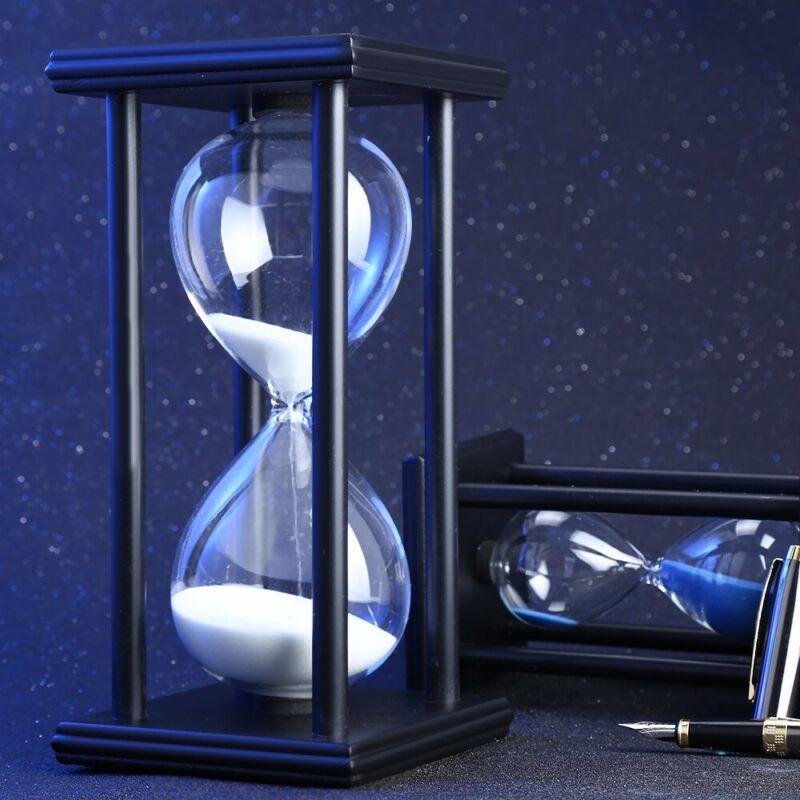Wooden Sandglass Sand Hourglass 60 Countdown Clock Home Decor