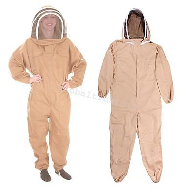 Lxlxxl Professional Cotton Full Body Beekeeping Bee Keeping Suit W Veil Hood