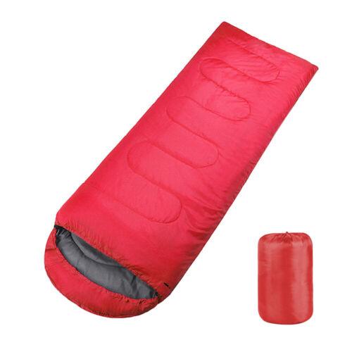 Camping Hiking Sleeping Bag Envelope Adults 3-Season Warm Li