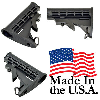 Tactical Made in the USA .223 5.56 Mil-Spec 6 Position Collapsible Butt Stock