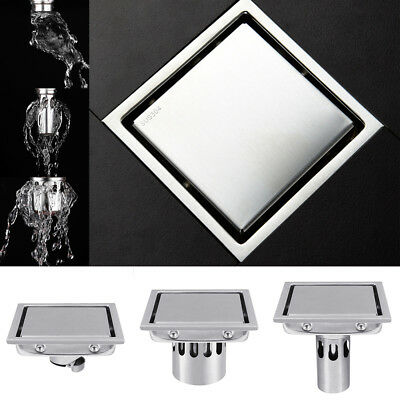 Square Invisible Shower Floor Drain Tile Insert Grate Sus304 Stainless Steel 4