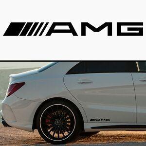 2x Mercedes AMG Seitenschweller Aufkleber Sticker Logo C63 E63 CLS CL500