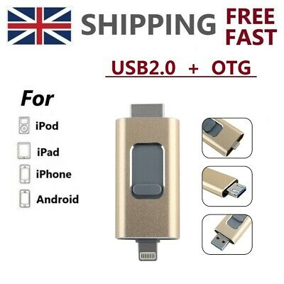 3 IN 1 OTG Storage Memory Stick USB Flash Drive 512GB Photostick For iPhone iPad
