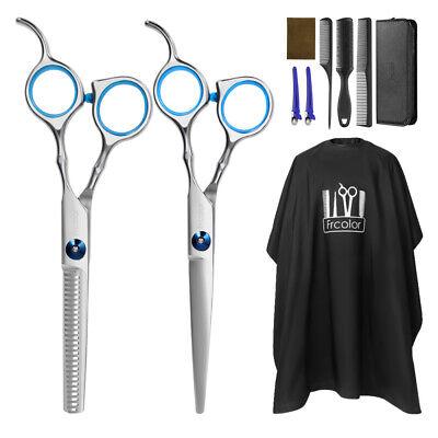 10x Salón profesional de peluquería adelgazamiento del Cabello Corte Tijeras Kit