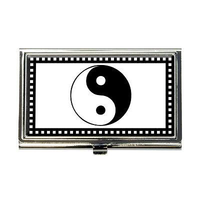 Yin Yang Symbol Business Credit Card Holder Case