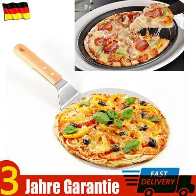 Edelstahl Runde Pizzaschaufel Pizzaschieber Pizzaheber Bäcker Schaufel Holzgriff ()