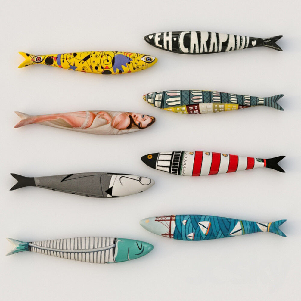 Ceramic Sardines By Bordallo Pinheiro Sardinha de Ceramica Made in Portugal